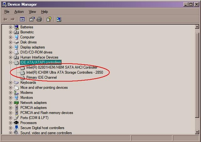 ICH8M SATA AHCI CONTROLLER DOWNLOAD DRIVERS