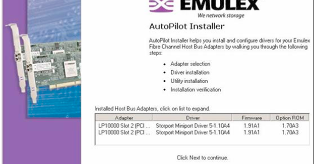 EMULEX STORPORT MINIPORT WINDOWS DRIVER